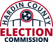 The red, white, and blue version of the Hardin County Election Commission website on a transparent background.